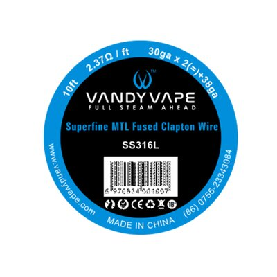 Vandy Vape - Superfine MTL Wickeldraht ESS 316 Superfine MTL Fused Clapton 30ga x2 / 38ga W2